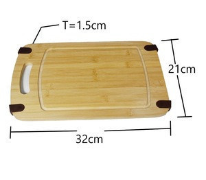 Kitchen Cutting Board with Hanging Hole Natural Bamboo Chopping Boards with Juice Groove Bamboo Cutting Board With Non Slip Feet