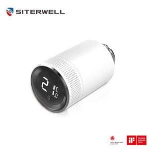 Manufacture Smoke alarm system TRV bluetooth tuya zigbee wifi rf smart radiator room thermostat