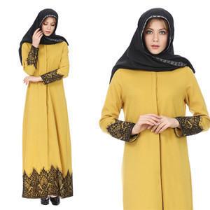 New Design Islam Women Abaya Long Style Lace Muslim Coat Dress Turkey Islamic Clothing