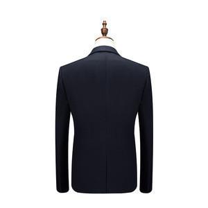 Plus Size Jacket+Pant+Vest Men Suit Brand New Deep Blue Dress Suits For Men Business Formal Wear Wedding Suit Men Clothes 2018