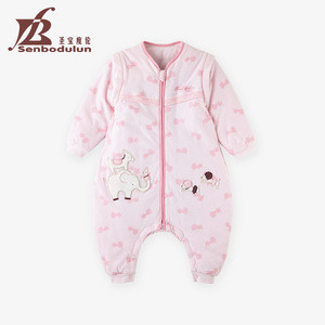 Senbodulun 0-36 months 100% Cotton Detachable Sleeve Baby Sleeping Bag Baby Winter Bag