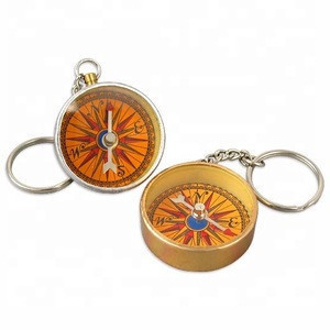 Souvenir Gift Pocket compass, mini compass Keychain For Hiking Sports