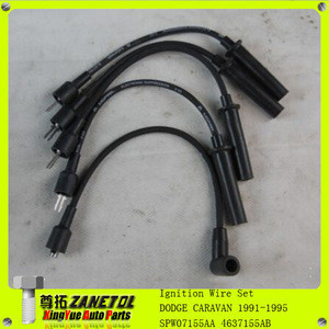 SPW07155AA 4637155AB Ignition System Ignition Wire Set Kit For Dodge Caravan Dakota Plymouth Voyager