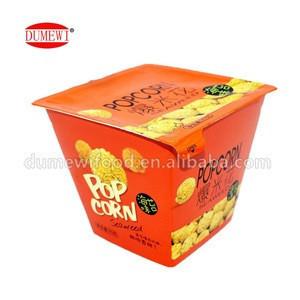Two Flavor Snacks Food Popcorn (orange :Seaweed ;yellow :Caramel)