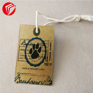 Wholesale clothes custom retail apparel hang tags and labels  gold foil printing garment kraft paper hangtag