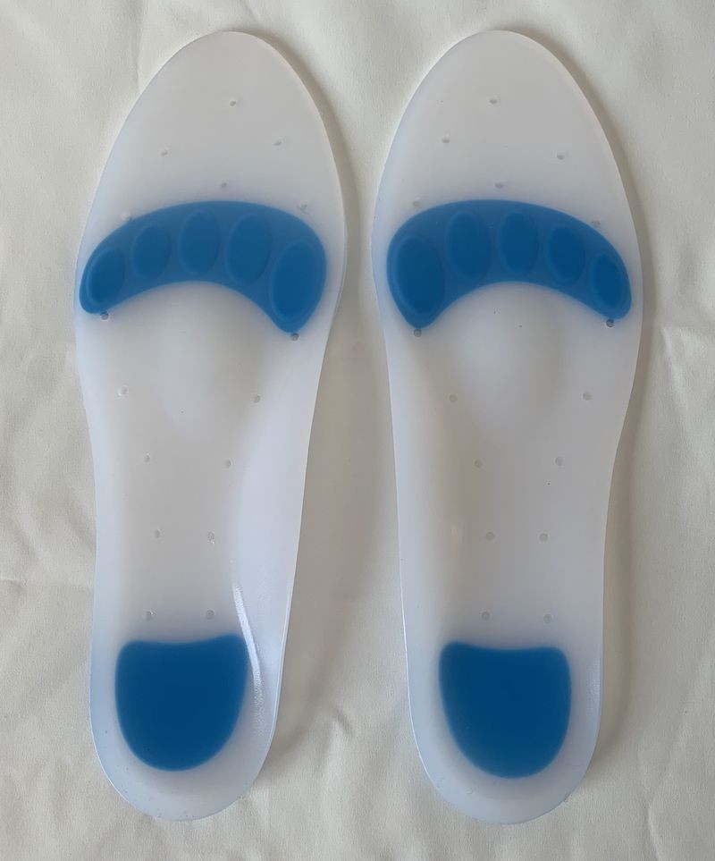Medical Silicone Footcare Insoles Full Length with Extra Soft Spots for Orthotic Treatment