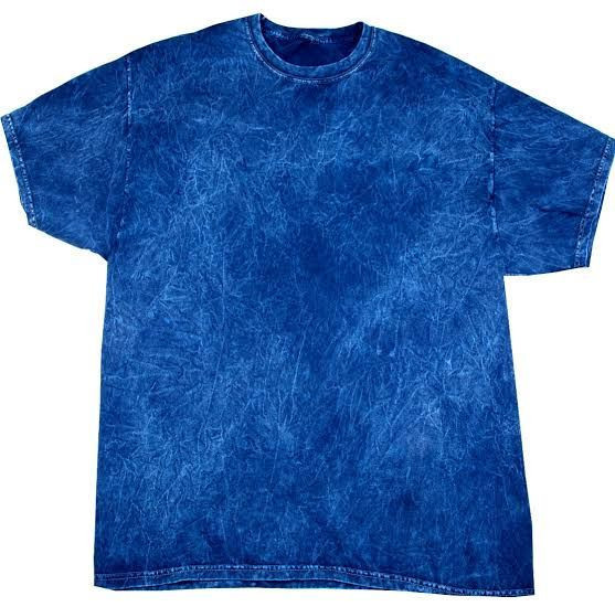 Garment dye printed T-shirt with wash effect