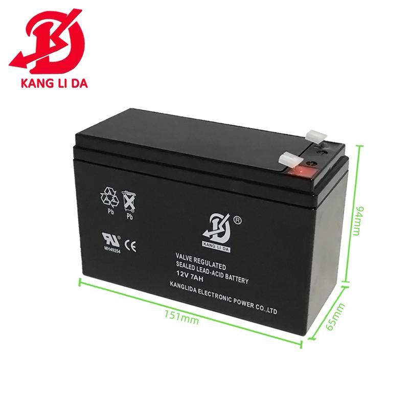 Kanglida battery 12v7ah lead acid battery