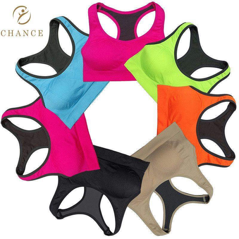 Seamless Customized LOGO Adult Black Yoga Bra Padded Ladies Seamless Women Sports Bra top fitness
