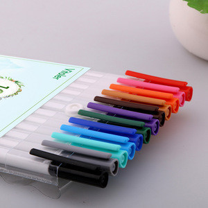 12 colors fineliner water-based ink color pens fine point drawing marker for school office usage