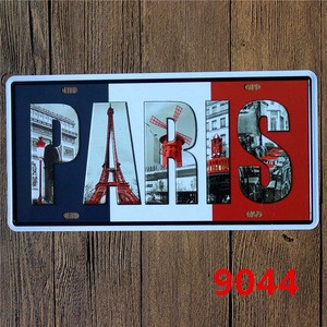 1201 Usa Standard Custom Logo Decorative Aluminum Metal license plate