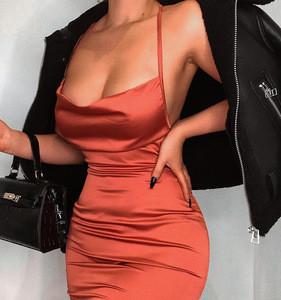 2020 summer women bodycon long midi sleeveless backless party dress