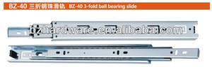 40mm 3-fold full extension ball bearing slide