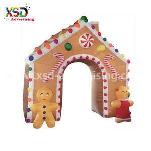 4.5 Meter Tall Inflatable giant gingerbread arch for Christmas decoration