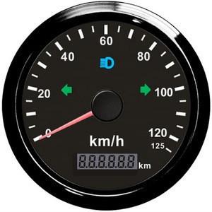 85mm Motorcycle GPS Speedometer 125km/h Odometer Total Mileage Adjustable