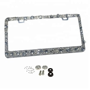 Beautiful bling car license plate frame with crystals car number plate frame car plates frame