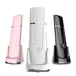 Beauty Personal Silicone Spatula Skin Care Dermabrasion Sonic Mini Face Scrubber Wireless Charging Ultrasonic Skin Scrubber