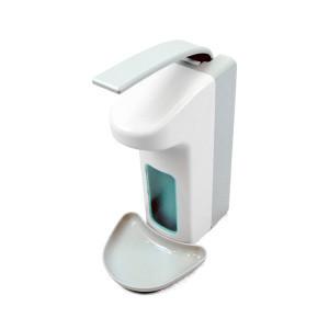 Comercial plastic with tray Liquid elbow sanitizer portable liquid soap dispenser