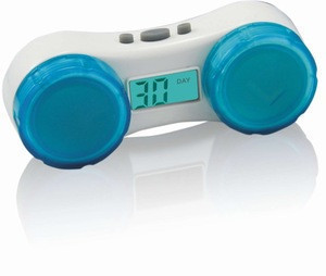 Contact lens case timer with 14,30 days LCD display