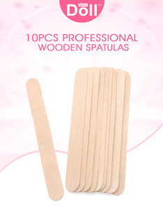 Doll Wax 10 pcs Waxing Stick For Hair Removal wooden Spatula flat wood sticks