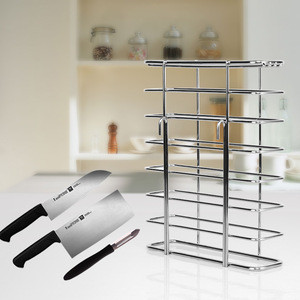 Easy Bag Factory Supply Kitchen Accessories Metal Wire Knife Drying Storage Rack Kitchenware Holders With Hooks