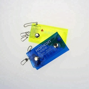 Factory directly promotional custom logo plastic reflect car key holder wallet
