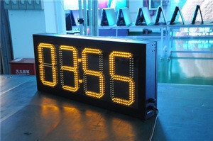Gps timer red digital wall clock led display