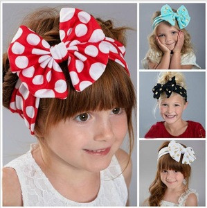 He11507a New Style Baby Gold Polka Dots Bow Hair Band European And American Children Hair Headwear Wholesale He11507a New Style Baby Gold Polka Dots Bow Hair Band European And American Children