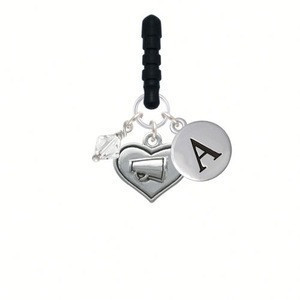 Heart with Megaphone Initial Phone Candy Charm mobile phone charm strap