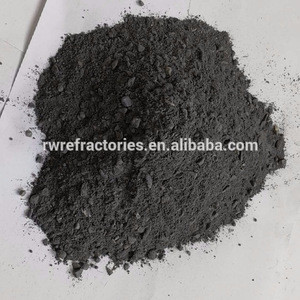 High aluminum silicon carbide carbon ramming material for trough and slag ditch lining