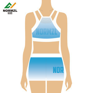 High quality cheerleading crop tops girls  practice children dance performance wear