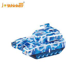Hot Amazon Creative Novelty Gift Promotional Medium tank pullback car Tank 3D foam puzzle Mini toy Car puzzle Collection gifts