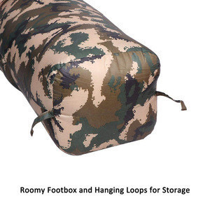 Hot Selling Waterproof Lightweight Army Camouflage Military Sleeping Bag