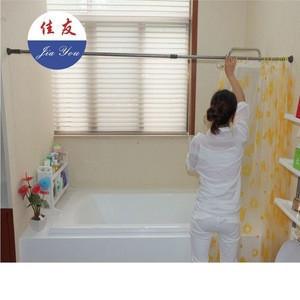 JYXF DIY extendable bathroom shower curtain rod JYY-618