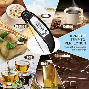 Kitchen Household Thermometer Digital Food Meat Probe BBQ Temperature Tools LCD Display with Retail Packaging