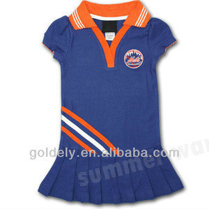 Lastest design primary High school uniform Cheerleaders uniform from Goldely Garments