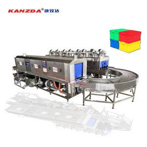 Plastic box washing and drying machine for basket tray box pallet