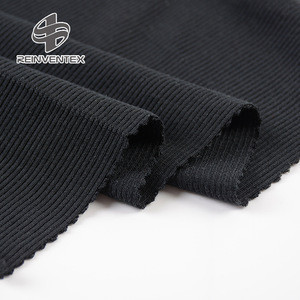 Profesional factory supply soft stretch 40S modal knitted 2x2 rib fabric for dress clothing