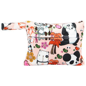 Small size washable cloth wet bags waterproof cloth bag for sanitary pads mini reusable diaper bag