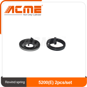 Starter rewind spring 5200 (E) 2pcs/set wide one iron shell cover chainsaw parts steel spring