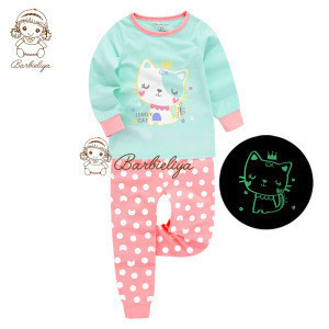 V-Pyjamas children pijamas xmas 100 cotton nightwear homewear cartoon sleepwear pajamas kids christmas pajamas