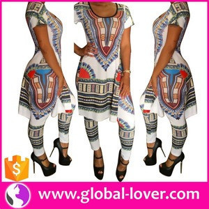 Wholesale Clothing China Girl Clothing African Print Woman Clothing