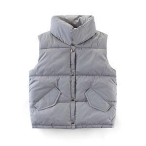 Wholesale new design Cheap Price children's pure color winter warm waistcoat for kids