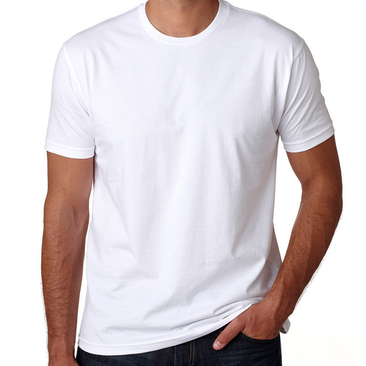 Yihao Wholesale Men's Apparel White Short Sleeve Round Collar T-Shirt
