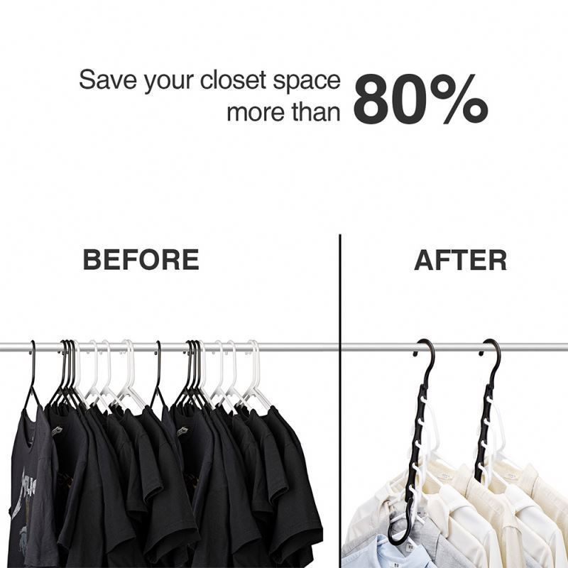 Plastic Space Saving Clothes Hangers
