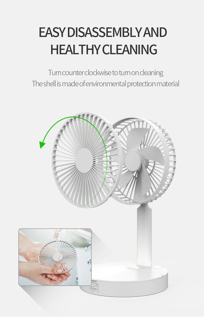 Desktop beauty Fan Portable Mini Fan Summer Air Cooling Rechargeable USB Fans Bladeless Fan