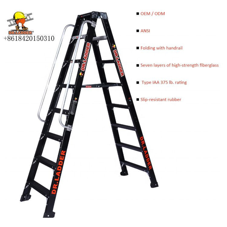 Family Use Folding Ladder With Handrail