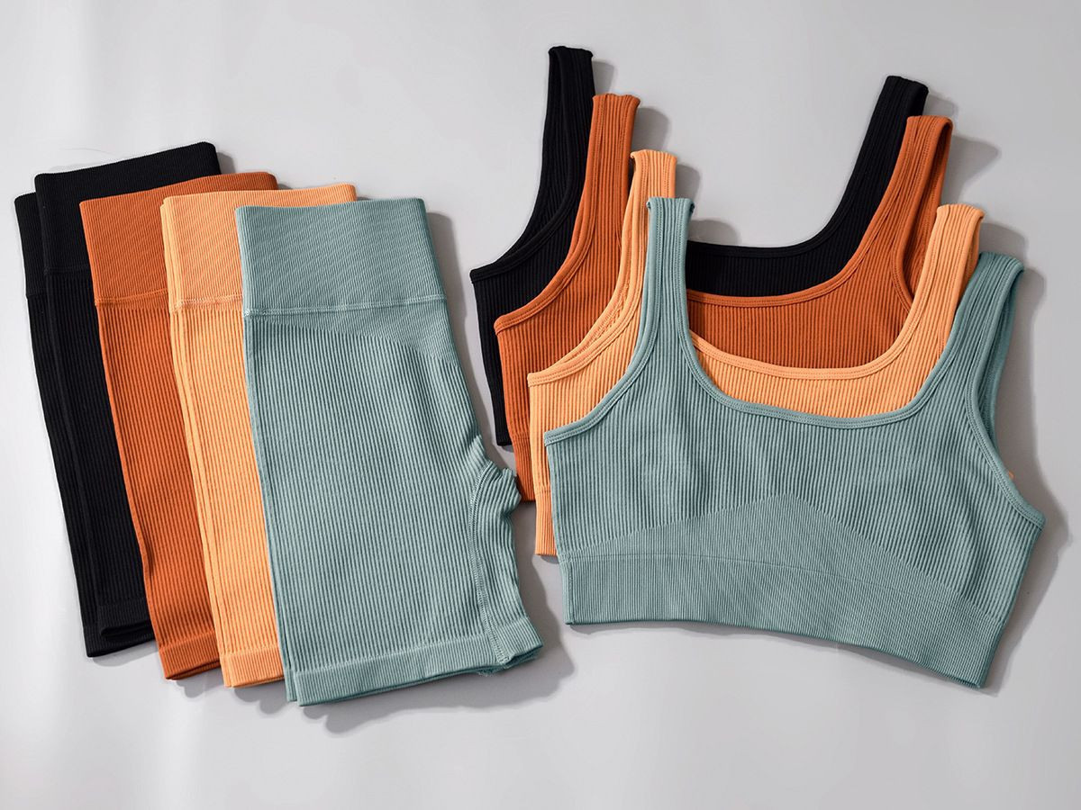 hot sale gym seamless yoga sets for women's shorts