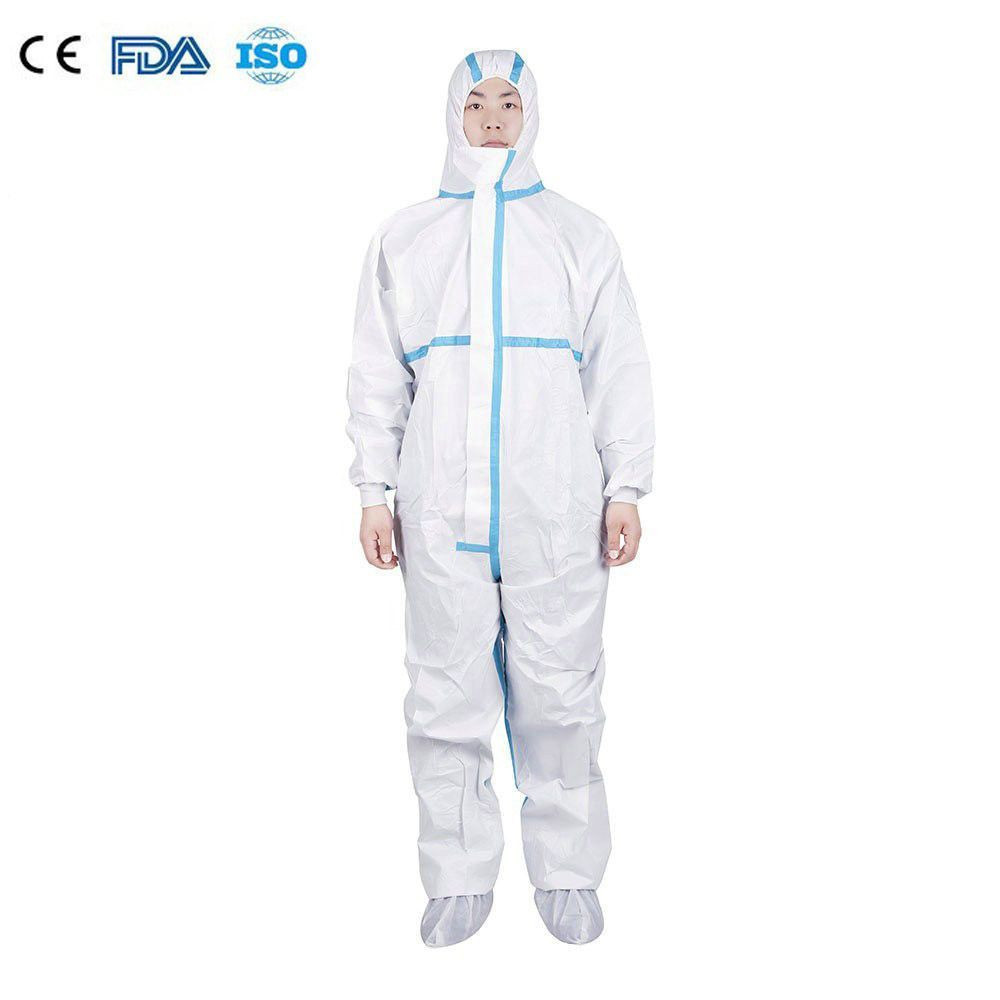 Disposable non-woven PPE Medical Class 1 EN 14126 protective clothing/coverall