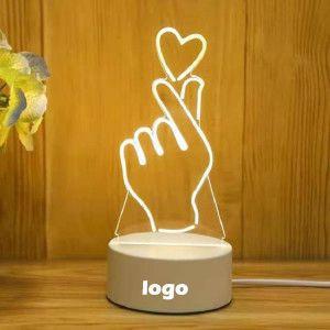 Gift custom 3d LED night light three color switch smart home light creative night light